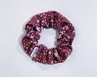 Mauve Florals Knotty Gal Scrunchy - Rachel