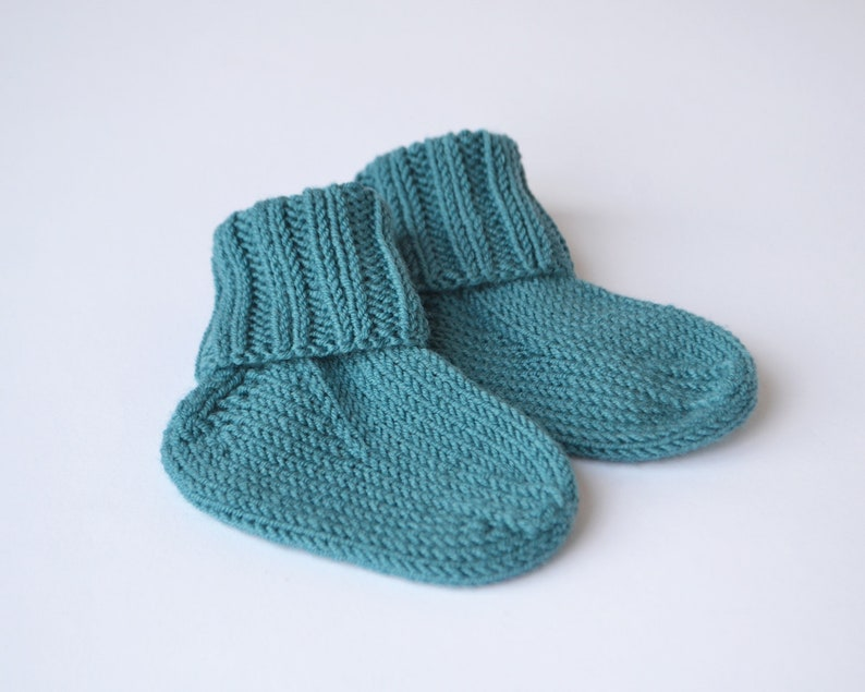 9dcfb47425ae8 Baby merino wool socks Sea green baby socks Hand knit socks | Etsy