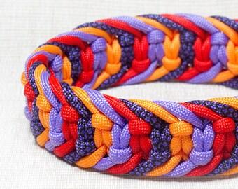 Custom Paracord Dog Collar, Side Release Dog Collar, Boy Male Dog Collar, Girl Female Dog Collar, Small Medium Big Dog Collar