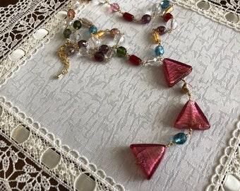 Energetic multi-color necklace