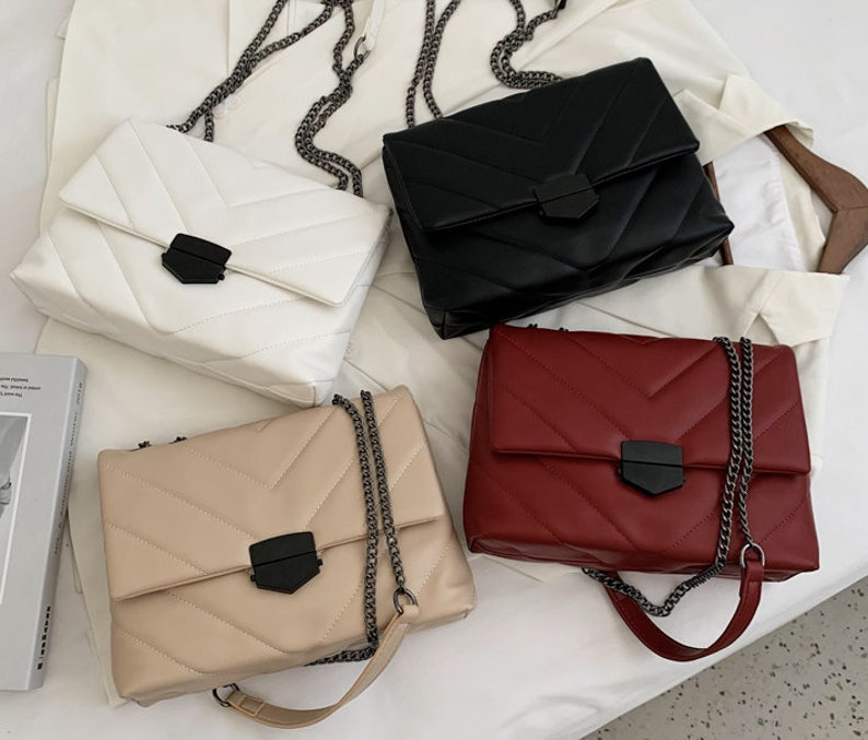 Crossbody Bag Bag For Women bags Leather Women Bag Leather Bag Leather Bag Chain Bag Embroidery Bag Bag Cool Bag for Women