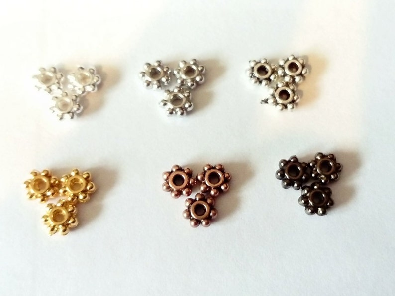 RONDELLE SPACER METAL BEADS DAISY 5mm BALI STYLE 100pc