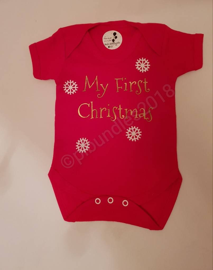 afc57cf9d My first Christmas bodysuit personalised first Christmas 1st   Etsy