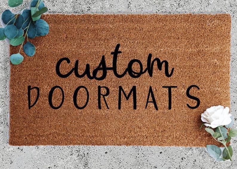 Custom Doormat Coir Doormat Outdoor Decor Outside Mat Etsy