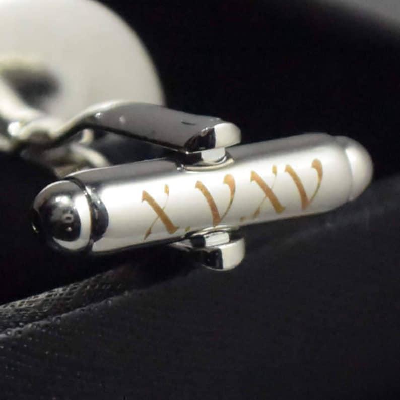 Date and Initials Cufflinks.Tanks cufflinks.The shell cufflinks.personalized name cufflinks.