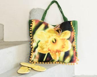 Shopper Bag, Beach Bag, Bath Bag Corduroy