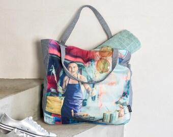 Canvas Shopper, Bath bag large, Beach bag XXL
