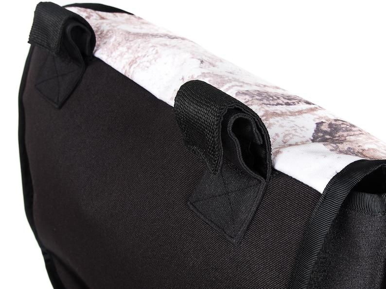Funny handlebar bag bike  modern bike bag with cool photo print  handmade  waterproof handlebar bag