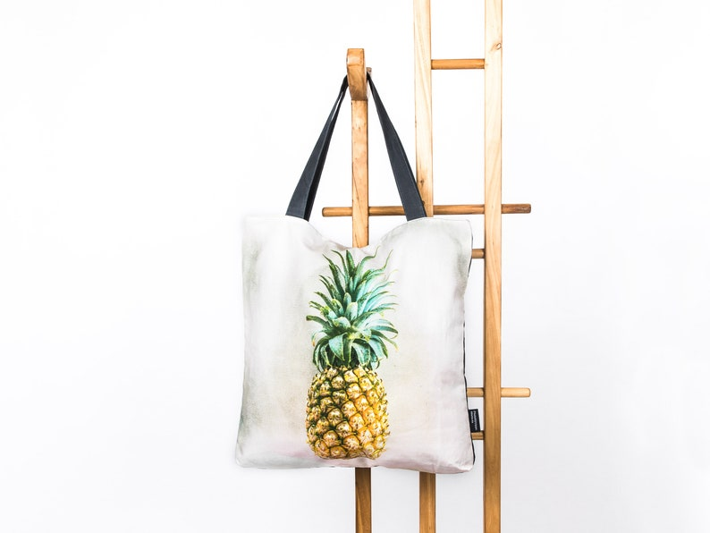 c928fcbbf5150 Shopper bag jute bag large zippered shopper PhotoMyVision