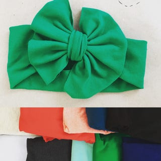 Solid Color Big Hair Bow Headband