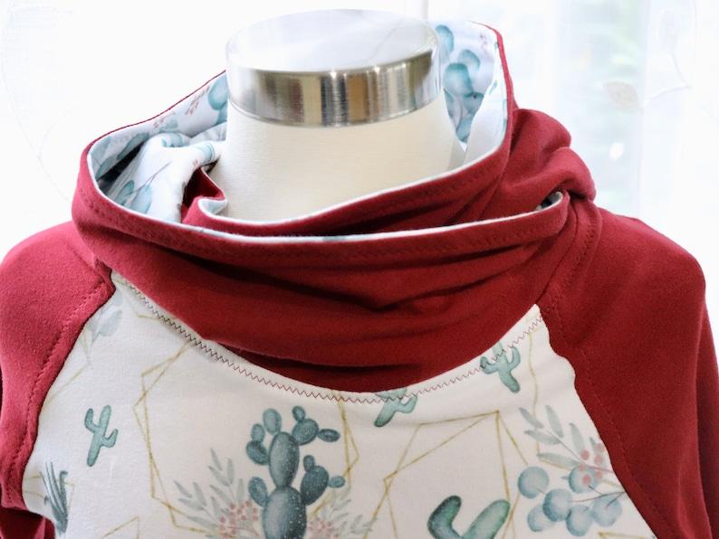 Fall Floral Shirt Breastfeeding Raglan Funnel Hoodie Cactus Floral Women/'s Hoodie Gift For New Mom Breastfeeding Top Women/'s Fall Style