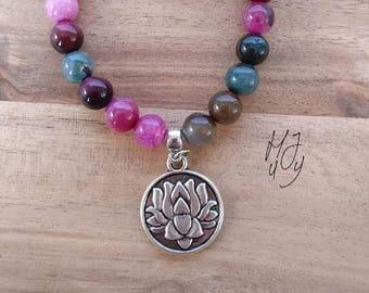 Beadsbracelet lotus, bracelet lotus, yoga bracelet