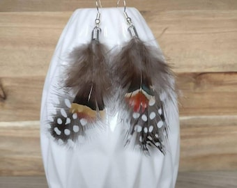 Earrings boho, earrings feather, yoga earrings