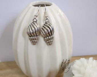 Earrings seashell, earrings shell, earrings beach, earrings summer, earrings tropical