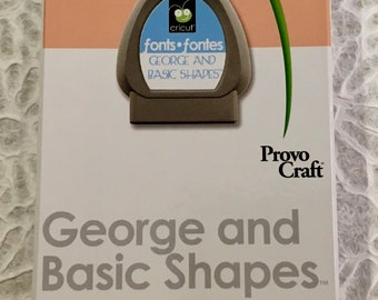 George and Basic Shapes Cricut Cartridge ~ BRAND NEW  ~ FREE Shipping