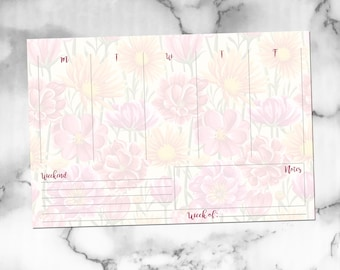 Weekly Plans [A5 Insert, Spring Florals]