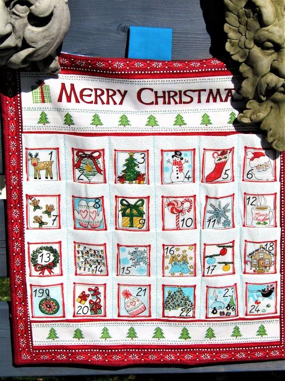 Keepsake Fabric Fillable Christmas Advent Calendar Large Snowmen Backing Fabric