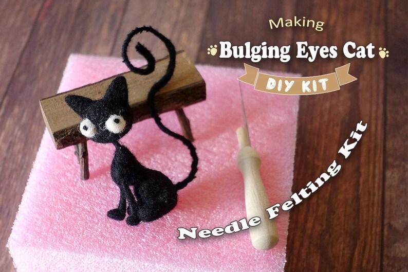 Making Bulging Eyes Cat  Needle Felting Kit image 0