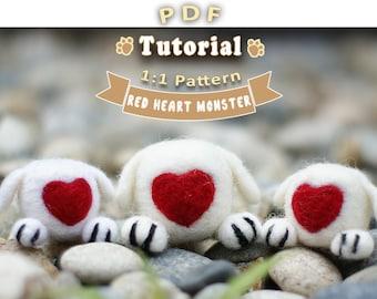 PDF - Red Heart Monster Needle Felting Tutorial + Pattern