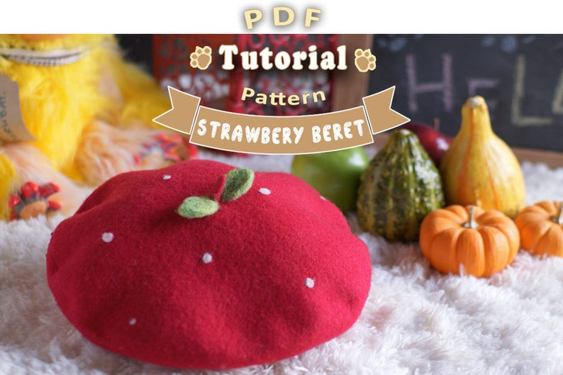 PDF - Strawberry Beret Tutorial + Pattern
