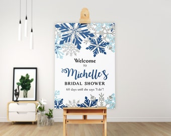 winter bridal shower sign snowflakes welcome sign bridal shower decor bridal shower signs 700119
