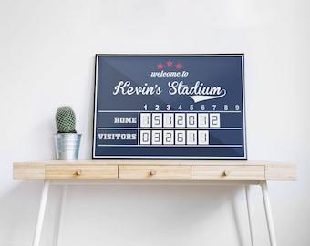 Baseball Scoreboard Etsy