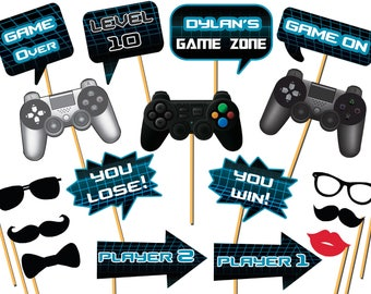 Video Game Concept With Controller Banner Level 10 Birthday Etsy