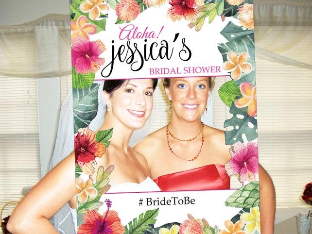 Bridal Shower Photo Prop Photo Booth Frame Wedding Photo Prop