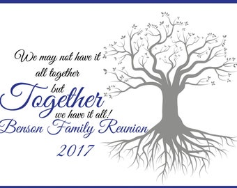 Large Personalized Family Reunion banner, Family tree Banner, Family Reunion Signs, Party Decoration, family reunion, Family banner;10000377