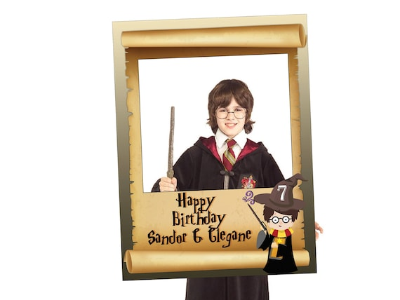 Magic Wizard Photo Booth Frame Magic Birthday Party wizard | Etsy