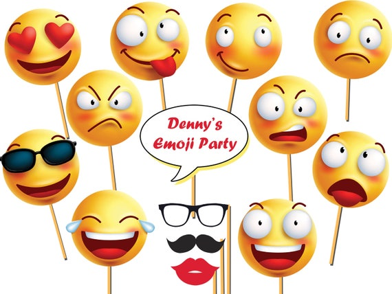 Custom Emoji Photo Booth Prop Smiley Emoticon Emoji Props