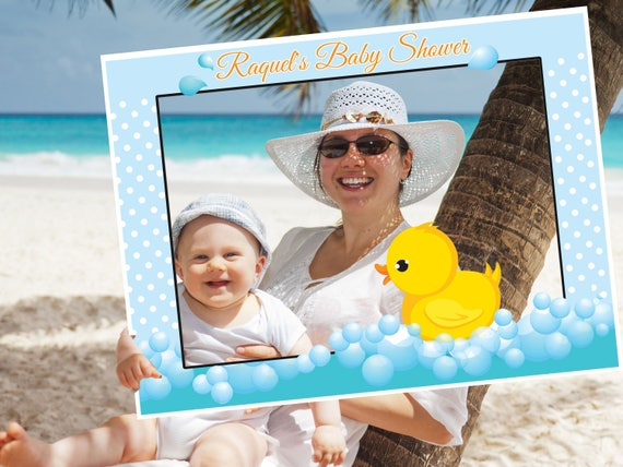 Large Custom Rubber Duck Baby Shower Photo Booth Frame Duck Etsy