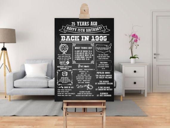 30th Birthday Decorations for Him 36x24 and 48x36 Birthday Party Poster Signs Birthday Poster Sign Size 24x18 Party Supplies Birthday Party Chalkboard Sign Birthday Decoration Chalkboard Signs