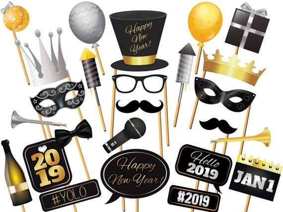 2019 New Years Eve Photo Booth Props