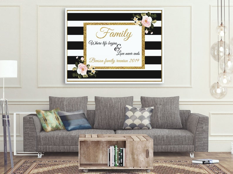 Large Personalized Family Reunion Banner Family Backdrop Etsy
