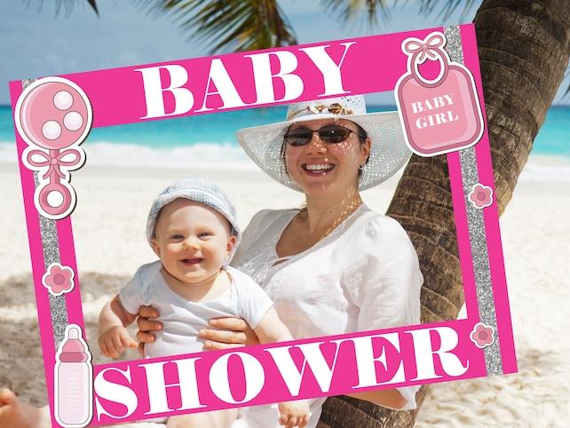 Large Custom Baby Shower Photo Booth Frame Baby Shower Frame Prop