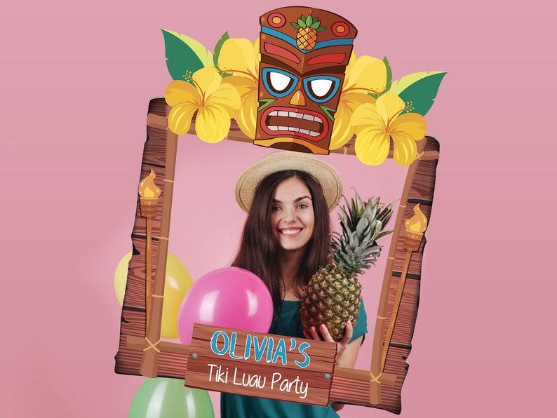 36578ff7 Tiki Luau Photobooth Party props Luau Party Decoration Ideas | Etsy