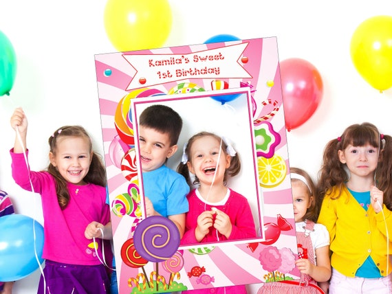 Floral Princess Crown Kids Birthday Party Gathering Photo Booth Selfie Frame Decoration ;10011196