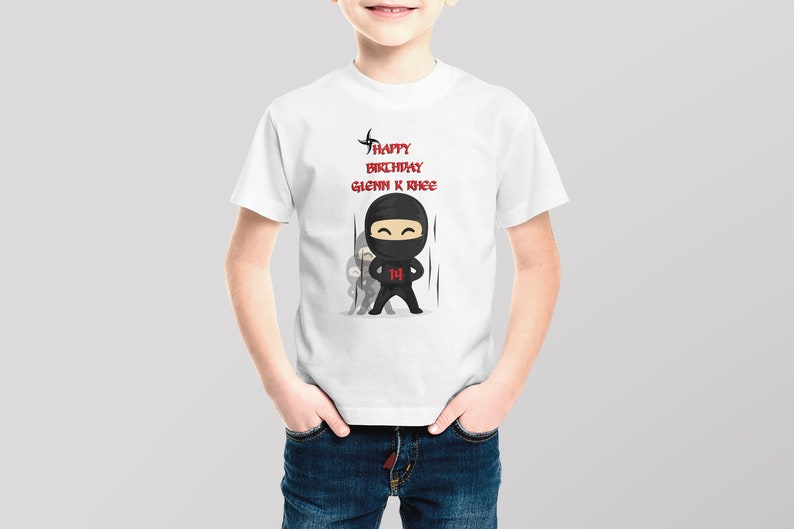 7f7b50f708446 Ninja Shirt for Boys, Personalized Ninja Birthday Shirt, Ninja Party Shirt,  Custom Ninja Shirt, Ninja Party Ideas, Ninja Birthday ; 5100088