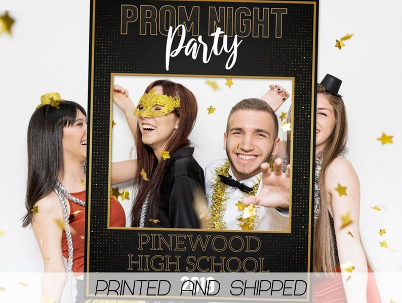 Prom Night Party Photo Booth Frame Pinewood  High School; 81011160 Senior Prom Photo Prop Class of 2019