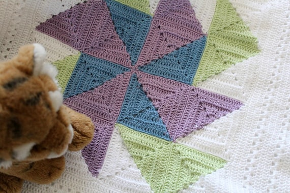 64b9f9628432a Crochet Flying Geese Baby Blanket