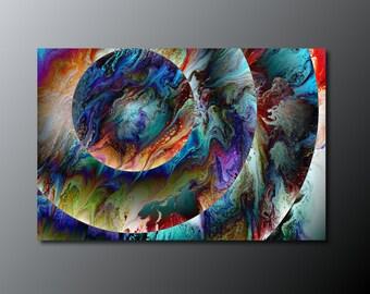 6bd93ff7b14 Print  Conjunction  fluid acrylic pour painting print  planet art