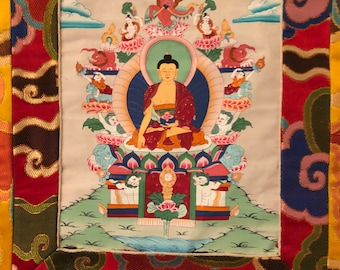 Asian Embroidered Wall Hanging