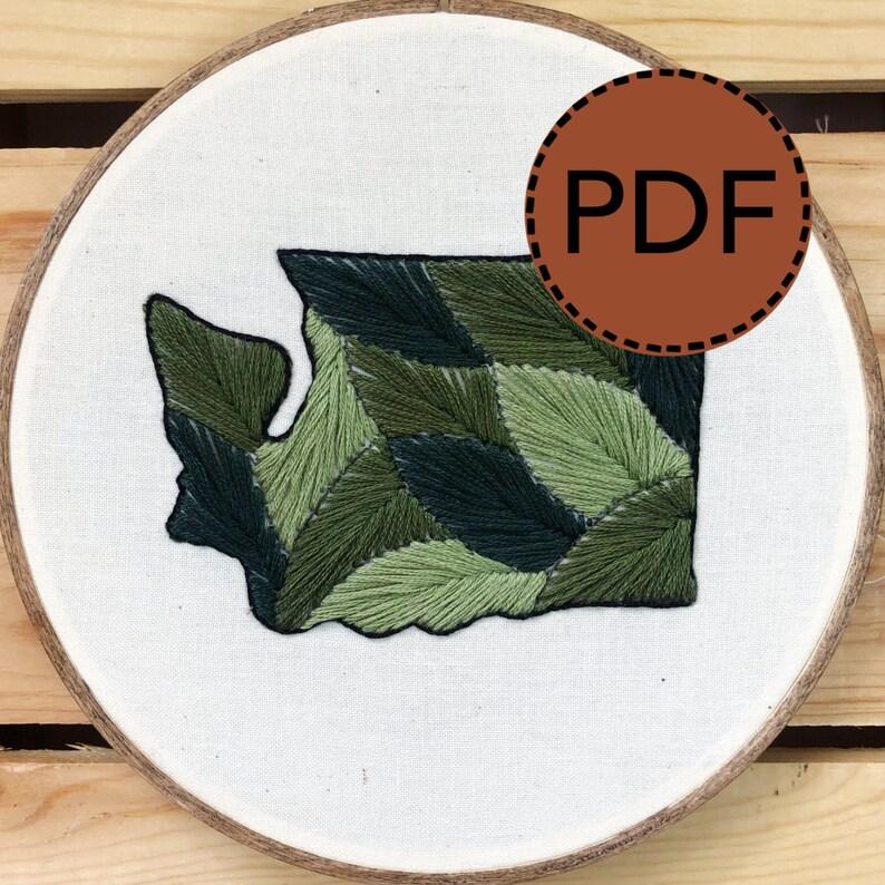 Leafy Washington DIGITAL PDF Moss Colorway