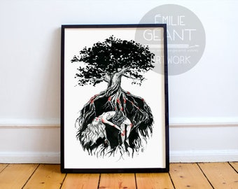 Roots - Limited edition A3 Giclée print by Emilie Geant