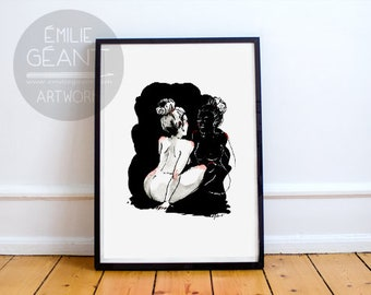 The Other Me - hand signed limited edition A3 Giclée print by Emilie Geant