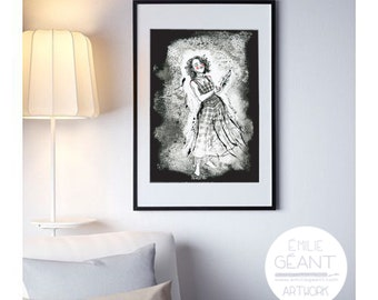 Hana - hand signed limited edition Giclée print by Emilie Geant