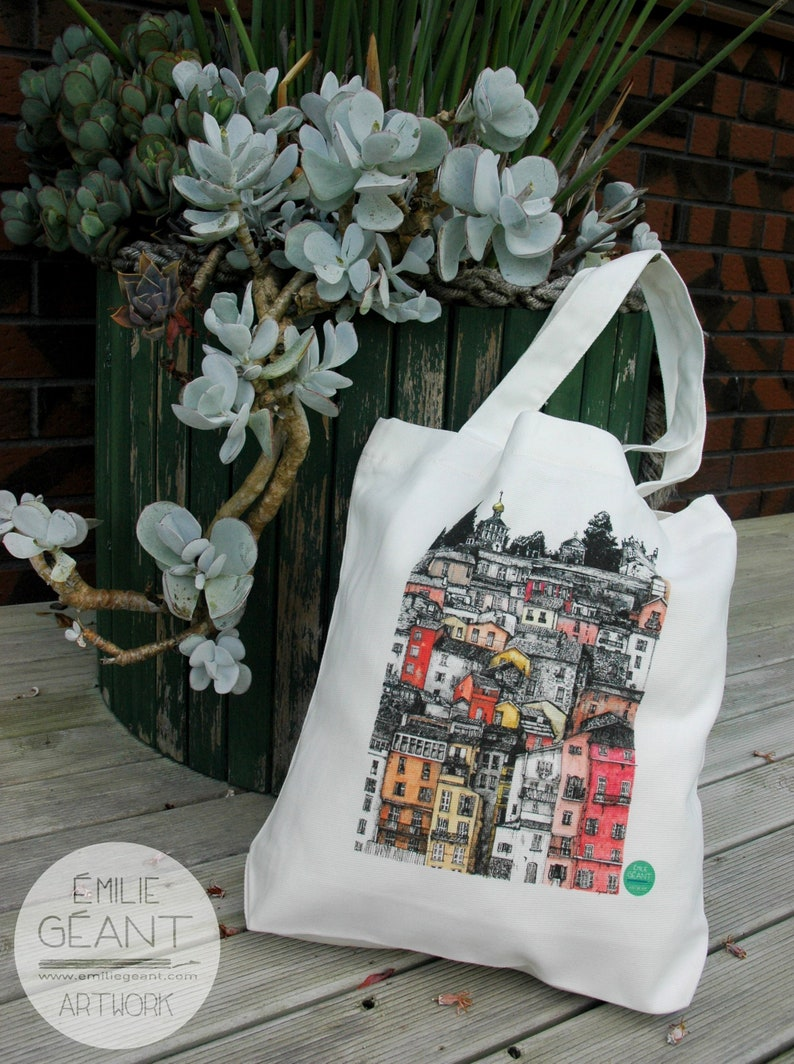 Carrie Tote Bag  heavy canvas with Ink  illustration of image 1