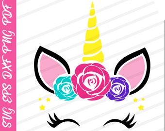 Unicorn svg DIY Create your Unicorn face Clipart Unicorn
