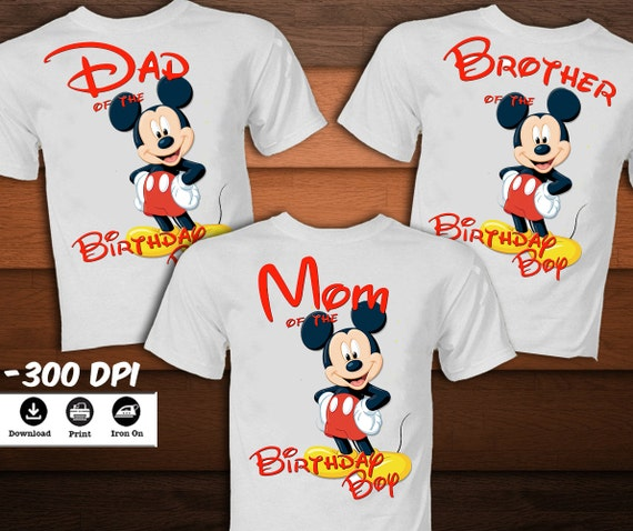 fc7ef24b4 Birthday Disney Family T-Shirts Personalized Mickey And Minnie Mouse Shirt  Custom Mickey And Minnie Mouse Family Shirts Birthday T-shirts by .
